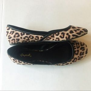 Qupid Animal Print Flats